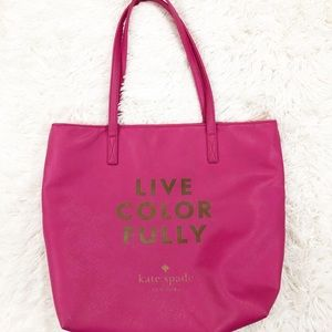 Kate Spade Live Colorfully pink tote bag